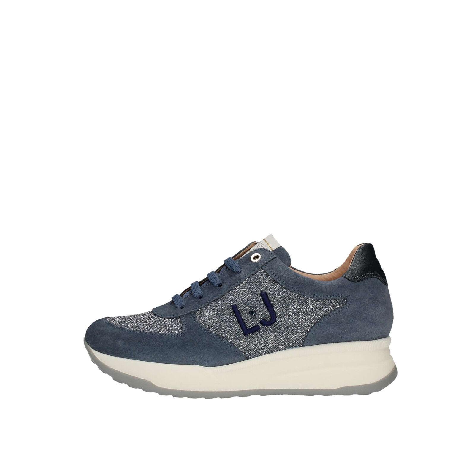 chaussures LIU JO LIUJO GIRL femmes L4A4 00344 0065X087 baskets CAMOSCIO TELA bleu