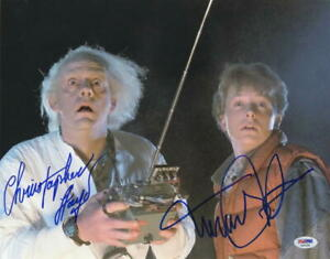 MICHAEL-J-FOX-CHRISTOPHER-LLOYD-SIGNED-BACK-TO-THE-FUTURE-11X14-PHOTO-PSA-LOA-F