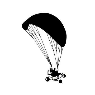 Dedicated Powered Paragliding Parachute Car Bumper Window Vinyl Art Sticker 9.9cm X 15.7cm