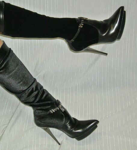 Gr Heels High Lederstiefel Stiletto Exklusive 39 Iq14U6w