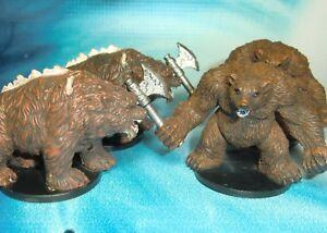 Dungeons-amp-Dragons-Miniatures-Lot-Werebear-Dire-Bear-s123