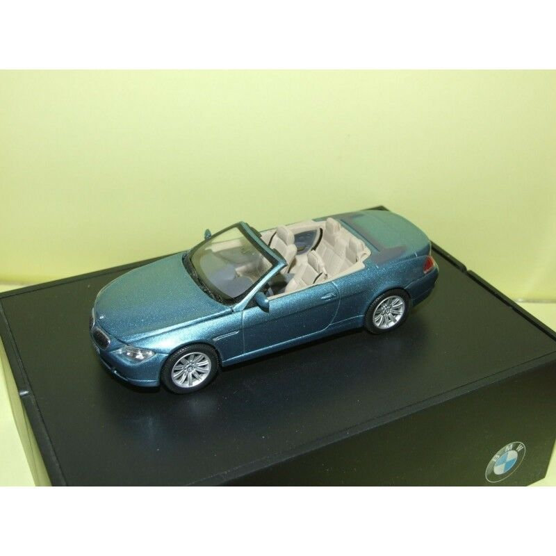BMW SERIES 6 CABRIOLET E63 blue MINICHAMPS 1 43