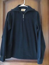 Men's Conte of Florence Black Pullover 1/2 Zip Fleece SZ S Gently Worn