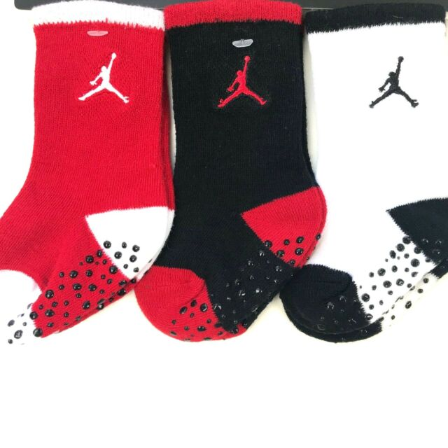 Jordan Baby Girls 3-Pack Crew Socks
