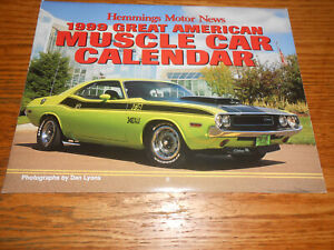 Calendar Same As 2021 1999 HEMMINGS AMERICAN MUSCLE CARS 12 Month WALL CALENDAR = SAME