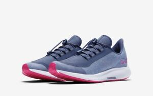 buy online ea4b3 10a9e Details about Nike AIR ZOOM PEGASUS 35 SHIELD UK 5 EU 38 Girls / Women's GS  Blue / Pink