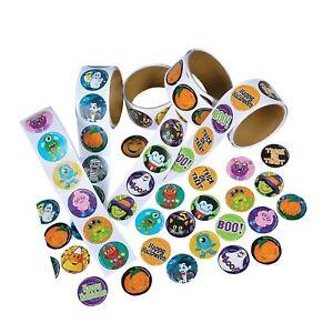 Rhode Island Novelty Assorted Halloween Stickers Pack of 500 ZHASTRL
