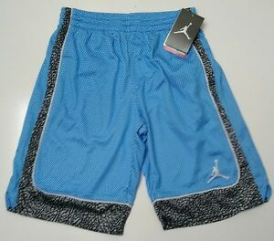 Nike-Air-Jordan-Boys-Athletic-Basketball-Shorts-Size-Medium-Blue