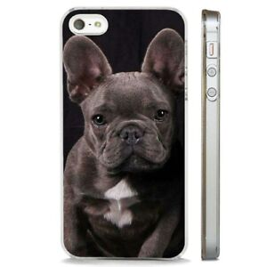 French Bulldog Grey Puppy Dog Clear Phone Case Cover Fits Iphone 5 6