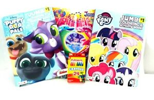 Kids-Coloring-Books-Boys-Girls-Activity-Book-Crayons-Set-Pony-Puppy-Fun-Stickers