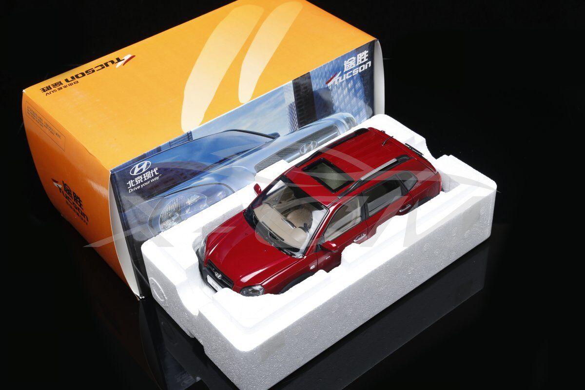 Diecast Car Model Old Hyundai Tucson SUV 1 18 (Red) + GIFT