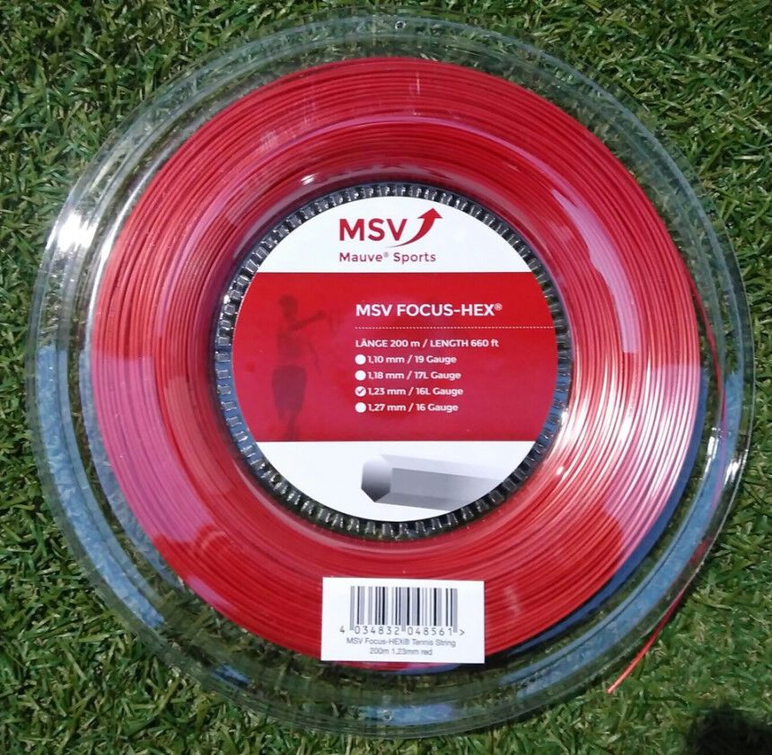 Cadena De Tenis MSV hexagonal de enfoque (1.23mm 17G) 200 M Reel (nuevo, Original)