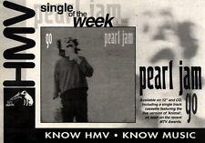 "30/10/93PGN21 PEARL JAM : GO SINGLE ADVERT 7X11"""