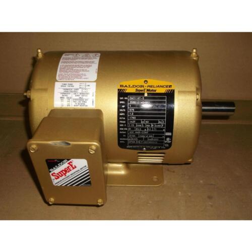 BALDOR-RELIANCE EM3116T5 1HP Super Premium eficiente motor 570//3 E eje único