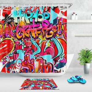 Image Is Loading Graffiti Shower Curtain Hip Hop Street Art Print