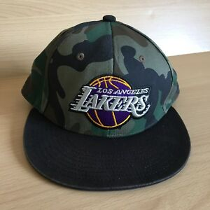 20642d53ac49c ... wholesale image is loading mens adidas camouflage los angeles lakers  adjustable hat ad70a 94b72