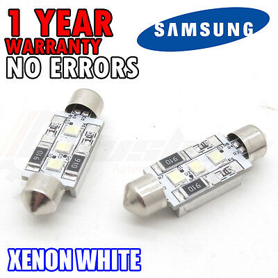 03-08 * X2 Ford Focus MK2 18 SMD LED Replacement Number Plate Units 6000K