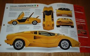 1990 Lamborghini Countach Qv Anniversary Original Imp Brochure Specs