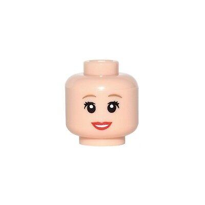 NEW Lego Female MINIFIG HEAD Girl w//Red Lips Smile Beauty Mark Kingdoms//Castle