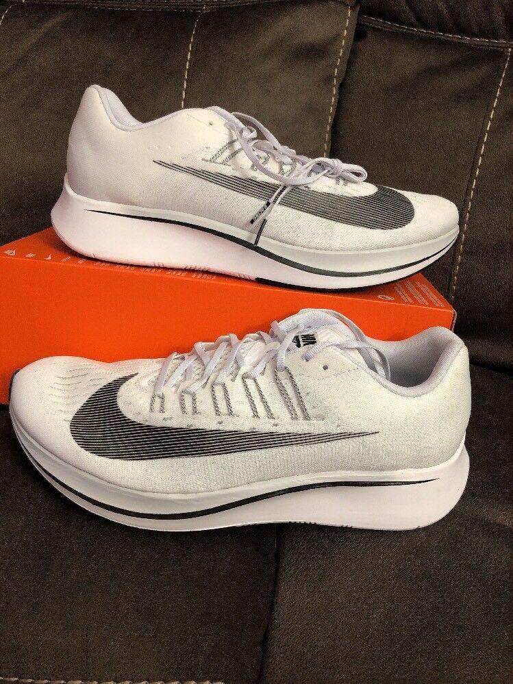 Men's Nike Zoom Fly Running Running Running shoes White   Black   Platinum Sz 14 880848 100 a24f2d