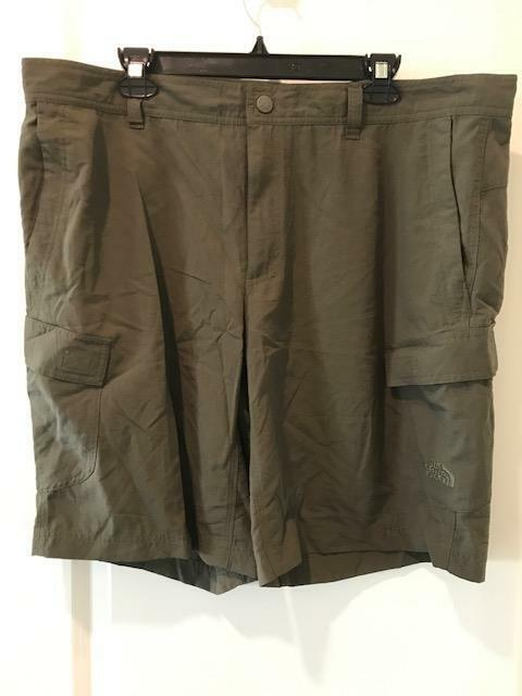 The North Face Mens Horizon Cargo Shorts New Taupe Green NWT Size 36-40