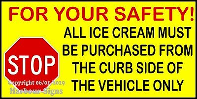 Stop For Children Crossing Decal Concession Stand Food Truck Sticker
