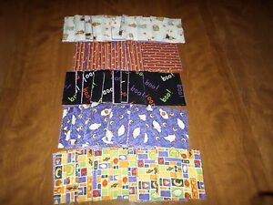 Details about 90 Quilting Squares 5x5 Batting Extra Material Pieces  Halloween Theme Charm Pack