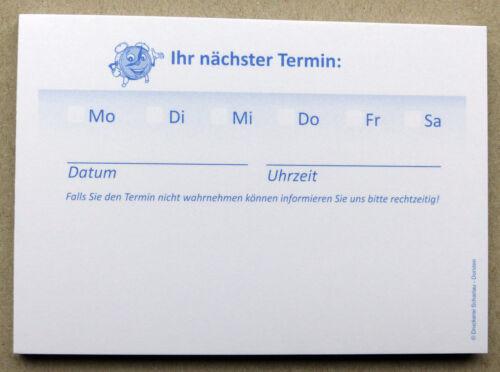 Terminzettel Praxis Studio Ärzte Frisör Universal-Terminblöcke Terminblock Nr.8