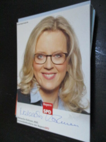 70799 Natascha Kohnen SPD Politik original signierte Autogrammkarte