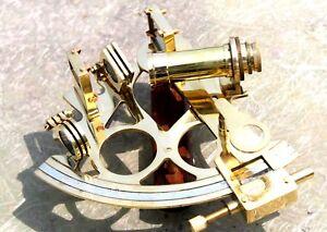 Maritime Navigational Instruments Nautical Brass Shiny Brass Sextant Nautical Brass Sextant Collectibles Item
