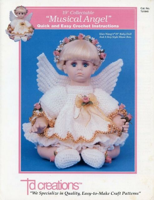 "Crochet 13/"" Angel Doll Christmas Outfit Td Creations Pattern//Instructions"
