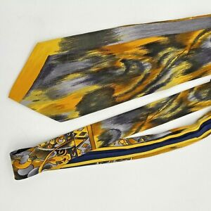 Vitaliano-Pancaldi-100-Silk-Multi-Color-Neck-Tie-Italy-Yellow-Black-Deco