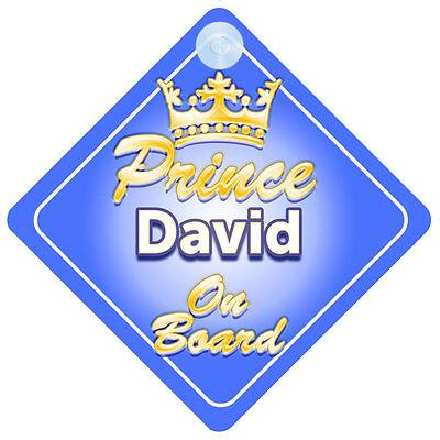 Acquista A Buon Mercato Principe Ereditario David A Bordo Personalizzata Baby Boy Auto Firmare-