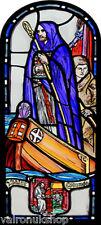 STAINED GLASS WINDOW ART - STATIC CLING  DECORATION - EDINBURGH ST COLUMBA