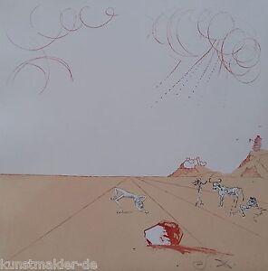 MUSEALE-Salvador-Dali-Original-Radierung-243-Paysage-iberique