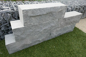 gartenmauer trockenmauer granitmauer 24 st ck steinmauer mauer naturstein granit ebay. Black Bedroom Furniture Sets. Home Design Ideas