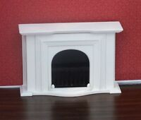 Dollhouse Miniature White Georgian Fireplace