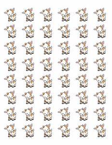 48-BABY-GOAT-ENVELOPE-SEALS-LABELS-STICKERS-1-2-034-ROUND