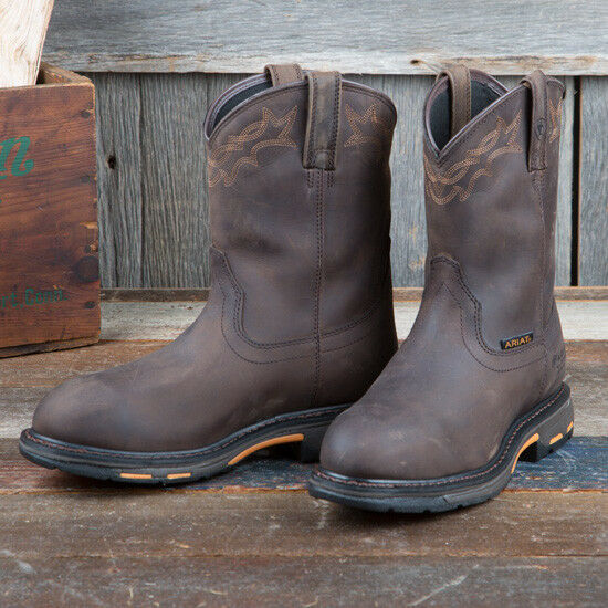 Ariat workhog Impermeable angustiado marrón