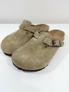 3b3359c754b Birkenstock Boston Womens Shoe Size 5 36 Suede Leather Beige Brown ...