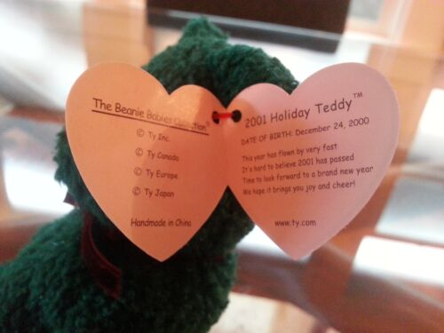 /'2001 Holiday Teddy/' Bear Beanie Baby MINT RETIRED
