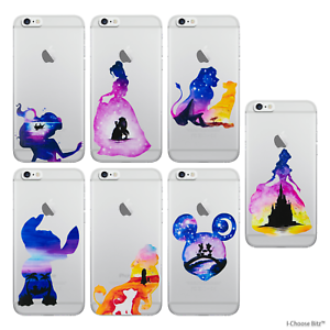 Disney-Watercolour-Case-Cover-Apple-iPhone-6-6s-4-7-034-Screen-Protector-Gel