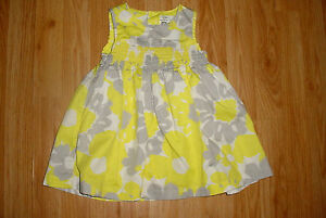 Carters yellow and gray dress