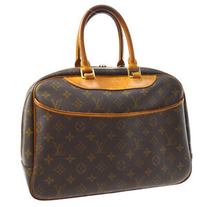LOUIS-VUITTON-DEAUVILLE-BUSINESS-HAND-BAG-PURSE-MONOGRAM-VINTAGE-M47270-A54036