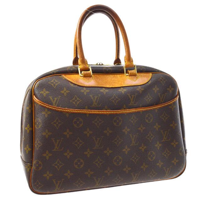 LOUIS VUITTON DEAUVILLE BUSINESS HAND BAG PURSE MONOGRAM VINTAGE M47270 A54036