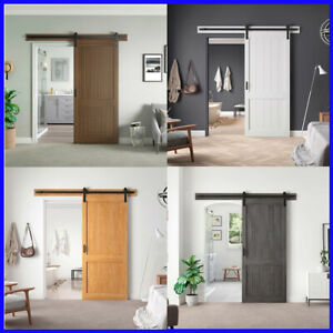 OVE Decors Barn Door with Hardware Kit & Smooth Soft-Close ...