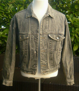 release date 6b12c 09373 Details zu DIESEL C- Jeans Jacke Grau 60-70 Jahre Look Damen Herren old  school Jacket A358