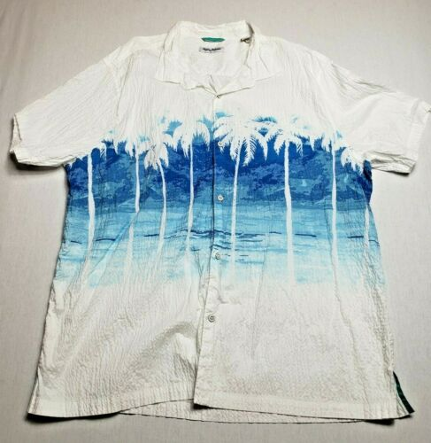 Vintage Tommy Bahama Hawaiian Shirt Mens XXXL Palm