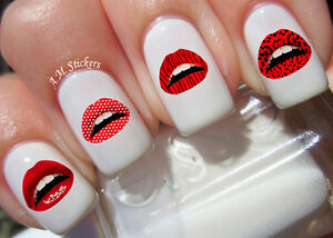 Image Is Loading Lips Nail Art Stickers Transfers Decals Set Of