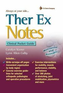 Ther Ex Notes Clinical Pocket Guide By Carolyn Kisner Lynn Colby